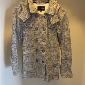 Hurley knit hooded pea coat